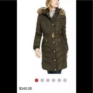 Michael Kors Jackets & Coats - Michael Kors belted puffer coat dark moss XS,